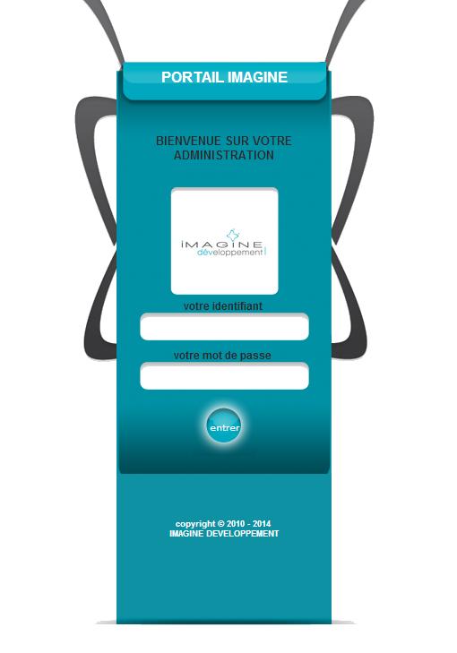 interface connexion portail imagine