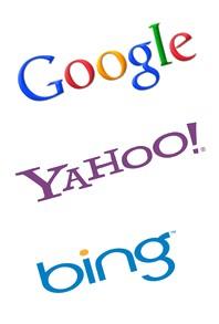 Logos Google Yahoo! Bing référencement