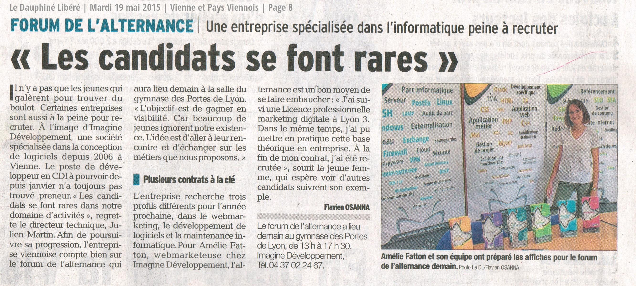 Article Le Dauphiné Libéré