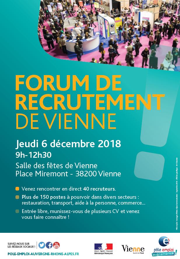 Affiche forum recrutement Vienne 2018