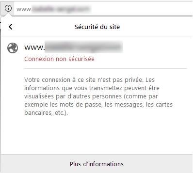 Site non sécurisé Firefox