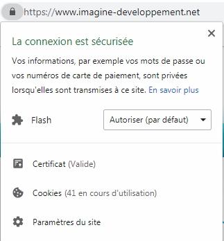 Site sécurisé sous Chrome